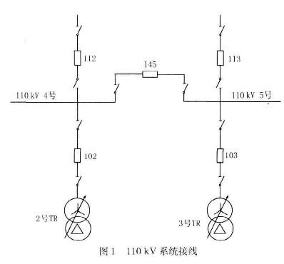 该变电站1lokv系统接线力式如图1所示